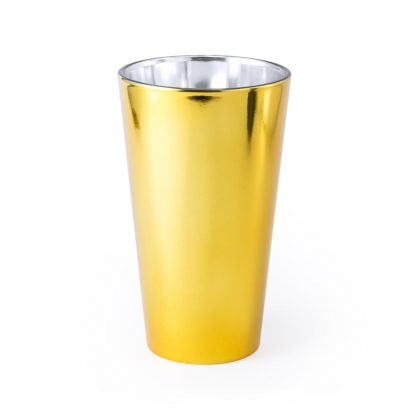 vaso cristal metalizado personalizado empresas logo