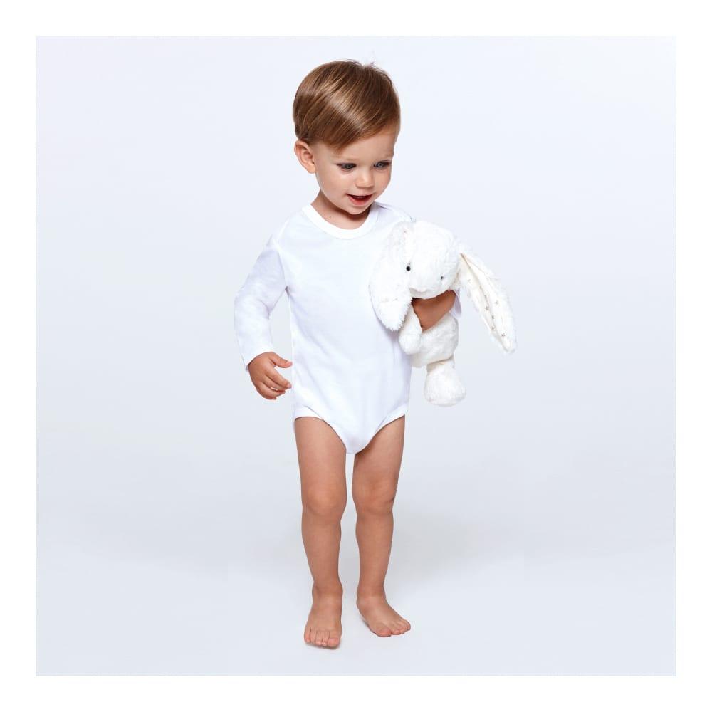 body blanco bebe manga larga promocional