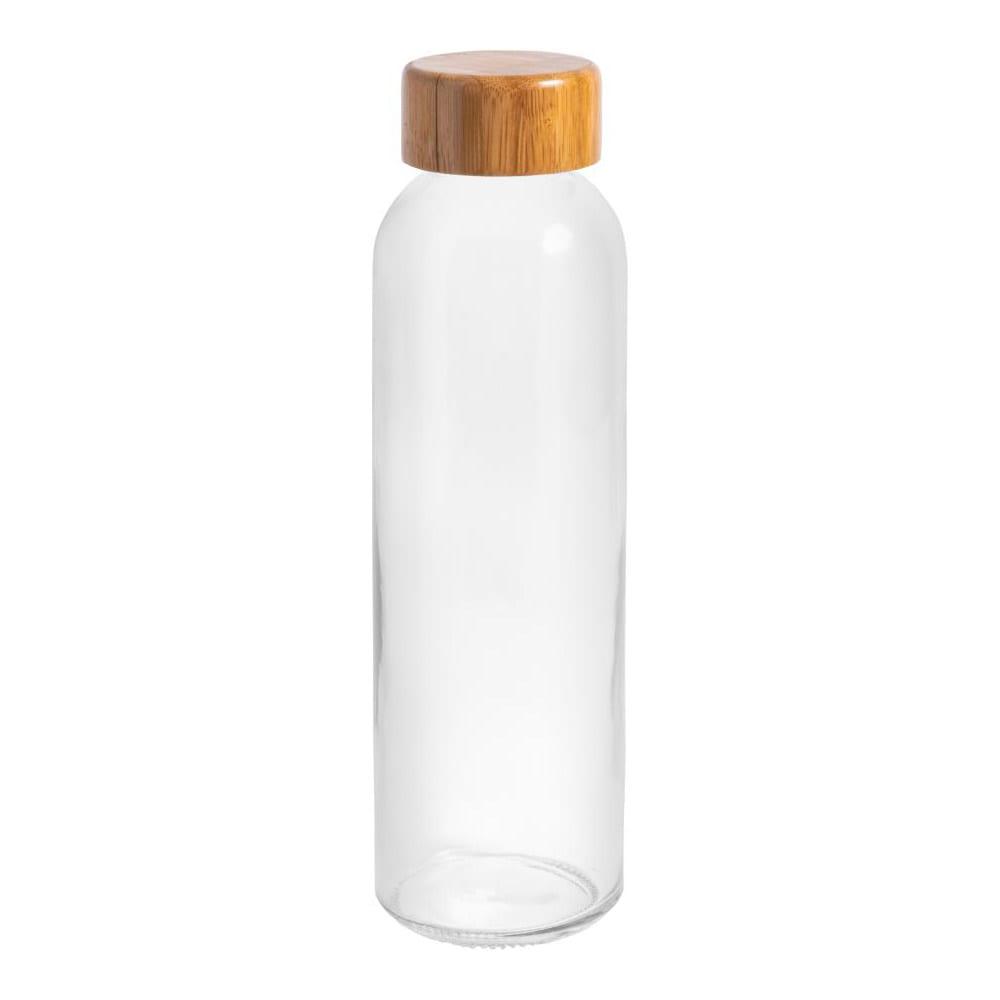 botella cristal tapa bambu personalizable