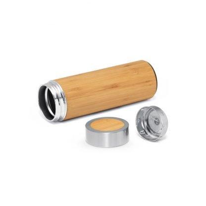 botella termo bambu ecologico infusor te