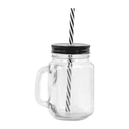 jarra cristal pajita personalizable