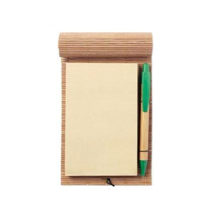 libreta bambu ecologica boligrafo logo empresas