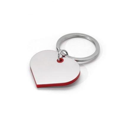llavero metal abs forma corazon personalizar