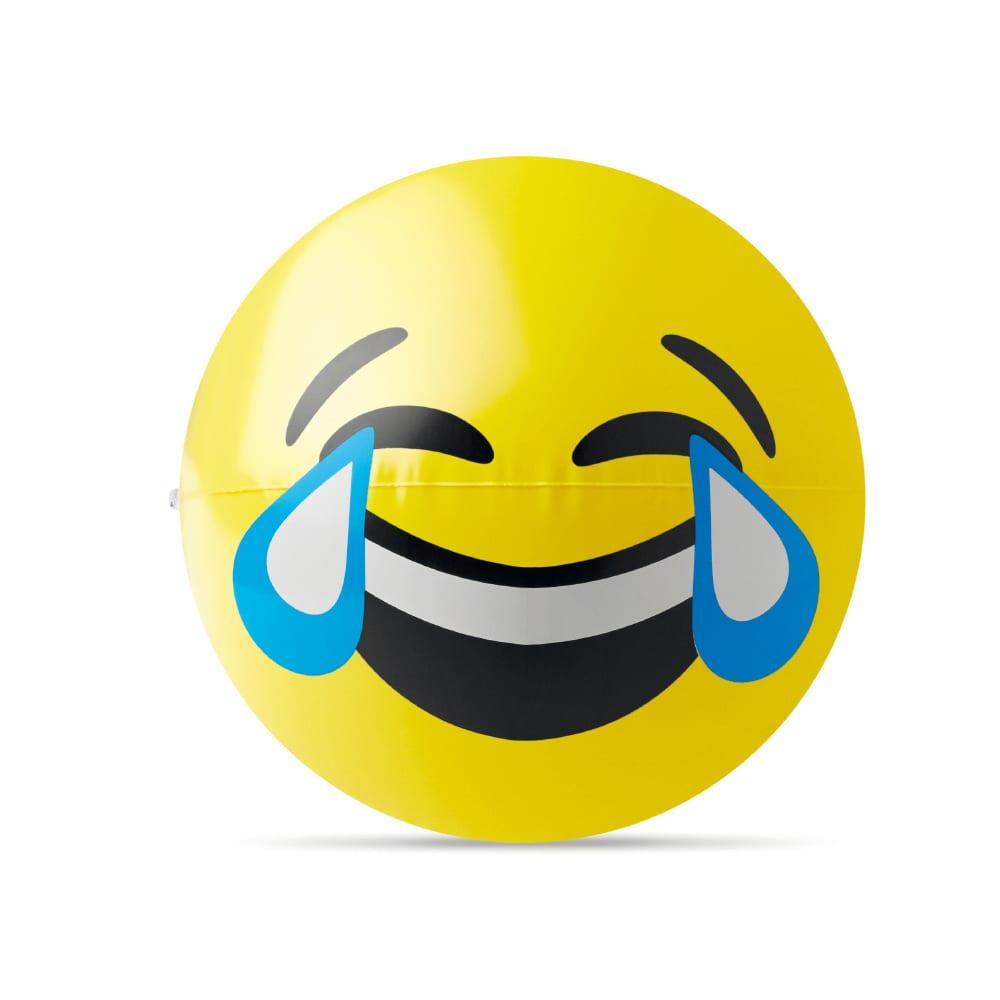 pelota playa emoji personalizada logo carcajada