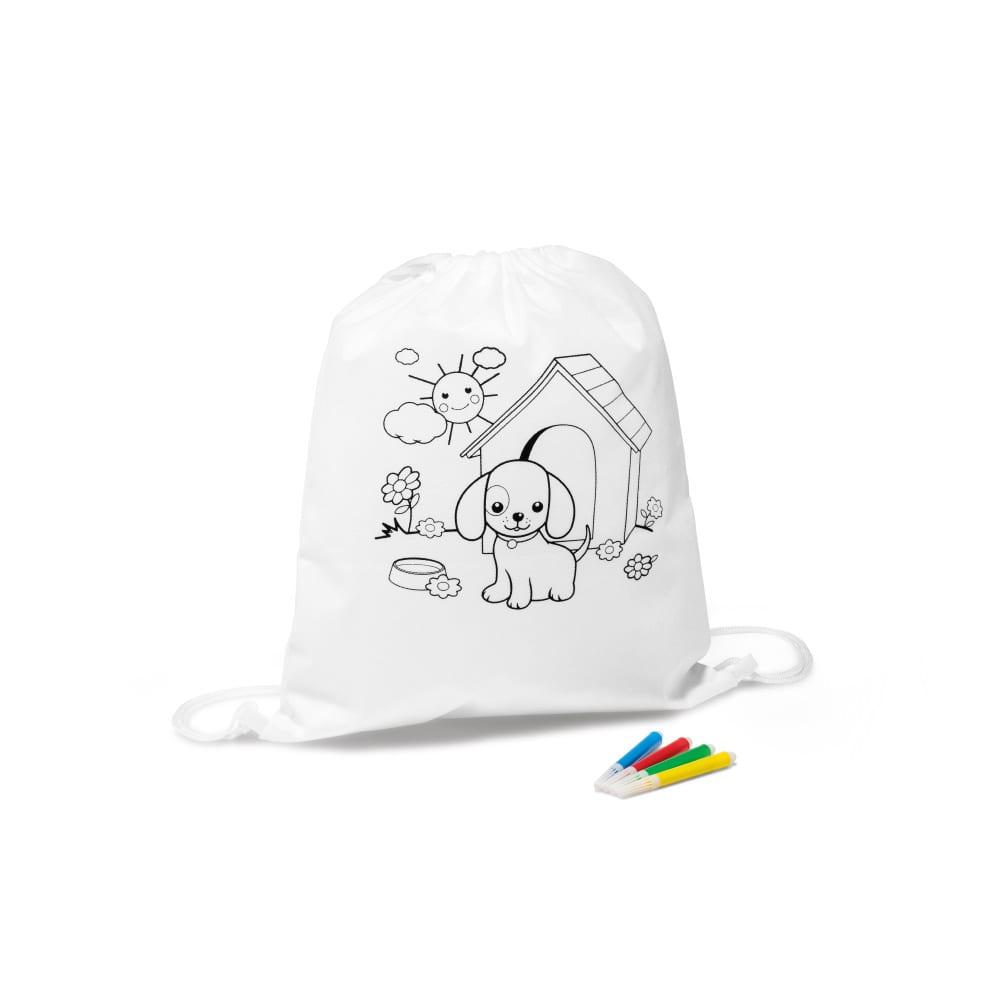 petate mochila niños dibujos colorear regalos