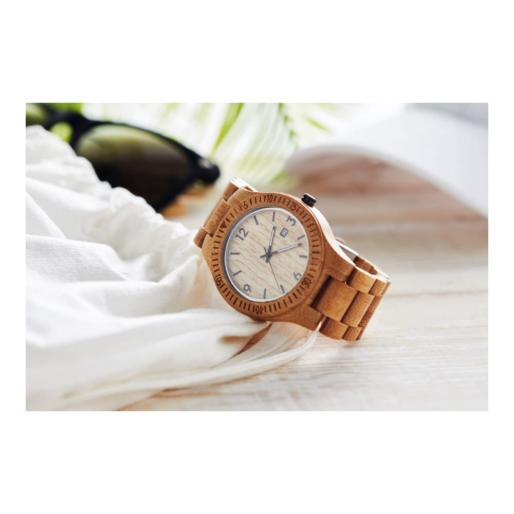 reloj regalo madera grabacion logo empresas