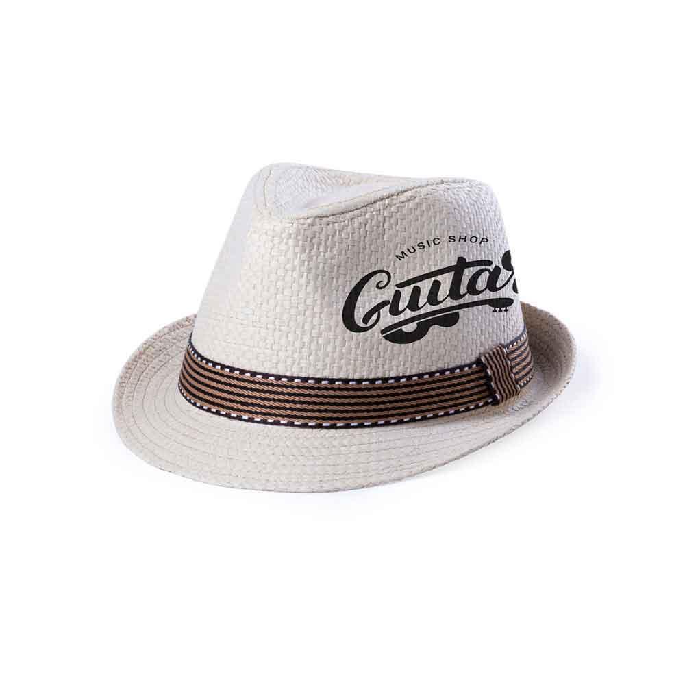 sombrero fibra cinta exterior diseño logotipo