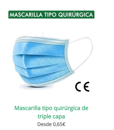 mascarilla higienica triple capa